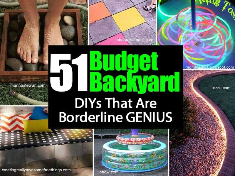 51 Borderline Genius Backyard DIYs