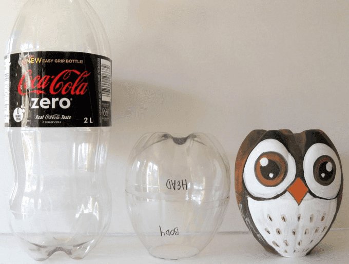 bottle owl craft