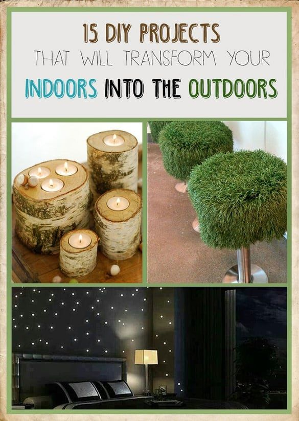 indoors into outdoors