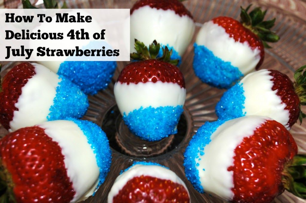 red white blue strawberries