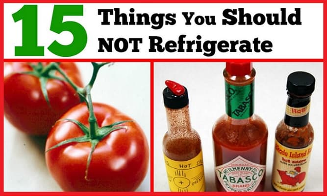 should not refrigerate
