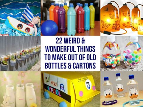 22 Terrific Things To Make Out Of Old Bottles And Cartons