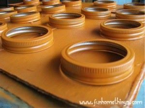 Canning Lid Pumpkin Craft