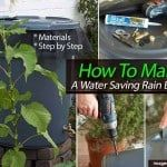 DIY Water Saving Rain Barrel