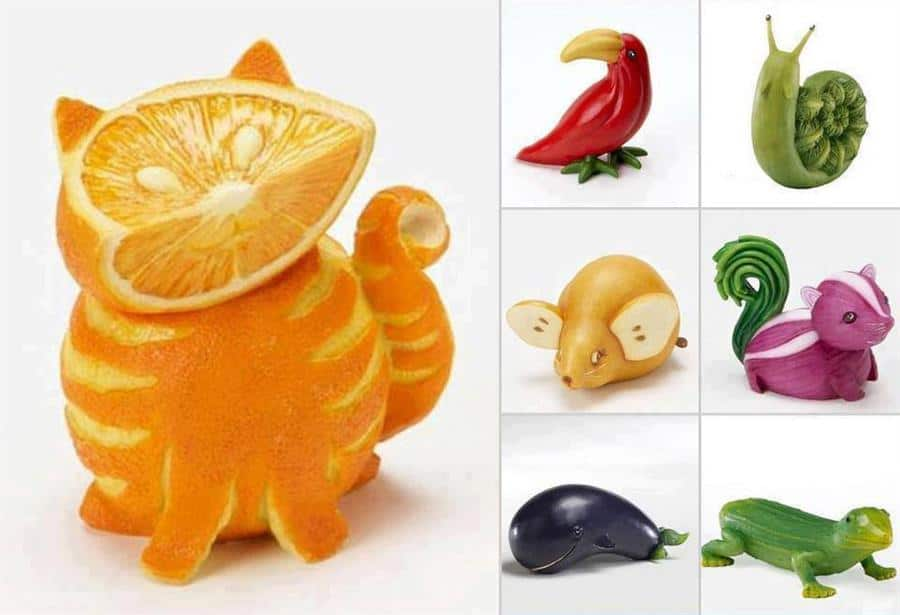 Fruit Turned Animal Art: 30 Creative Creations
