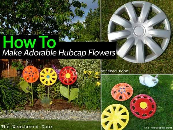 DIY Hubcab Flowers
