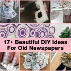 17+ Beautiful Newspaper DIY Ideas For Old Newspapers