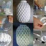 How To Make A Lamp From Used Plastic Spoons