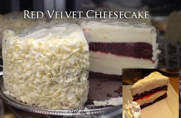 Four-Layered Red Velvet Cheesecake