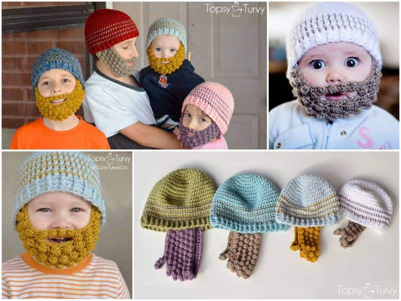 Bobble Crochet Beard Beanies Free Patterns Diy Cozy Home