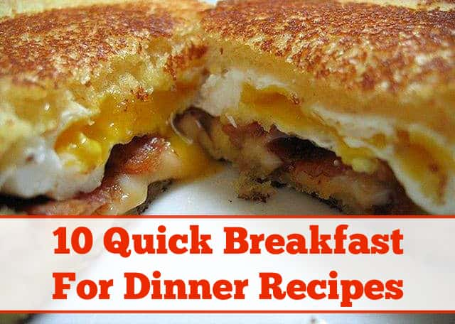 10 yummy breakfast for dinner recipes forumfinder Images