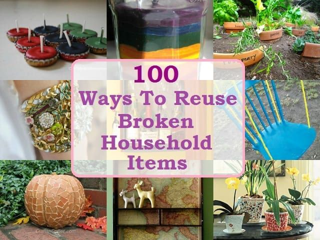 Repurposed Items For Storage