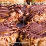 Homemade Chocolate Caramel Thumbprint Cookies