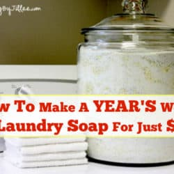 laundry soap for a year