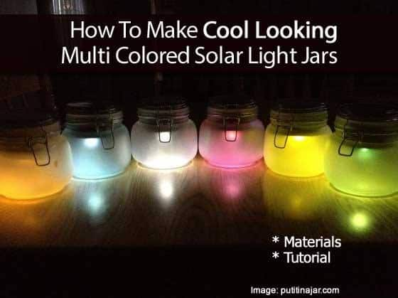 How To Make Solar Powered Mason Jar Lights