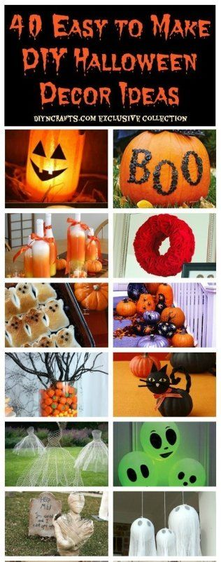 40 Easy To Make DIY Halloween Decor Ideas