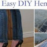 Fast And Easy DIY Hem Jeans