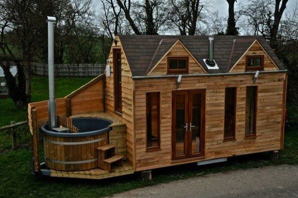 Phenomenal Mobile Tiny Home With Wood Fired Hot Tub Yes Please Diy Cozy Home Largest Home Design Picture Inspirations Pitcheantrous