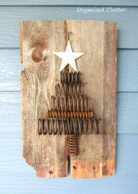 Repurposed Rusty Spring Tree