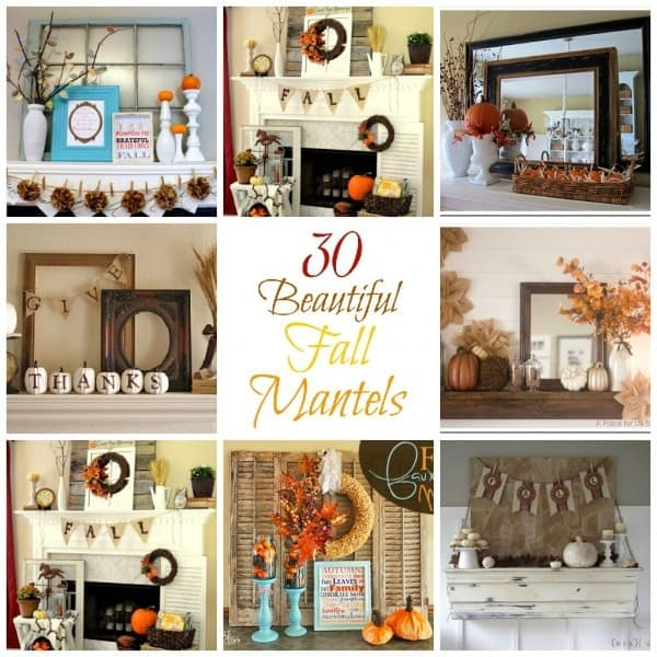 30 Beautiful And Cozy Fall Dining Room Décor Ideas: 30 Beautiful Fall Mantel Ideas