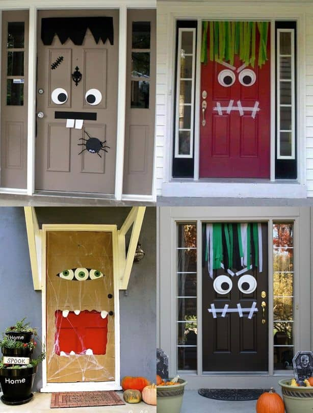 35 spooktacular front door decor ideas for halloween