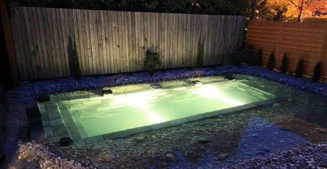 spotlights-around-pool