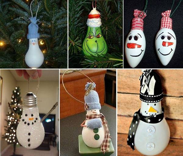 10 insanely easy christmas light bulb decorations and ornaments - Christmas Bulb Decorations