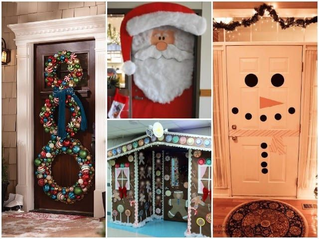 23 Festive Door Displays To Greet Holiday Houseguests