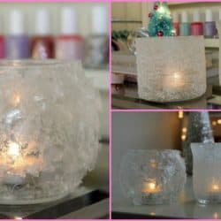 How To Easily Make Beautiful Winter Votives