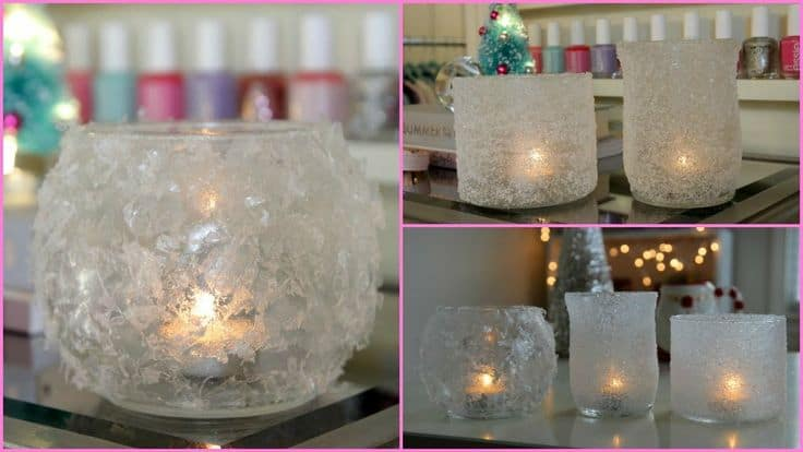 diy winter votives