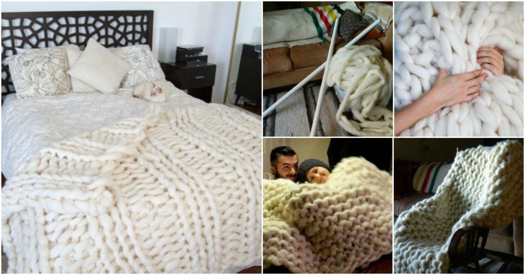 Get Your Knit On With This Ginormous Blanket Diy Cozy Home