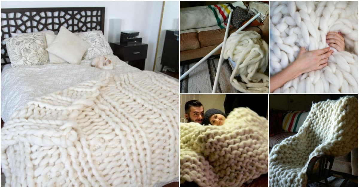 giant knit blanket