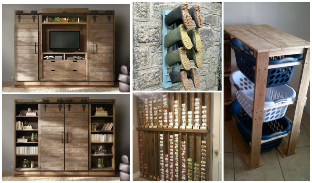 extremely creative wall storage ideas. pallet storage Creative DIY Pallet Storage Ideas  Cozy Home