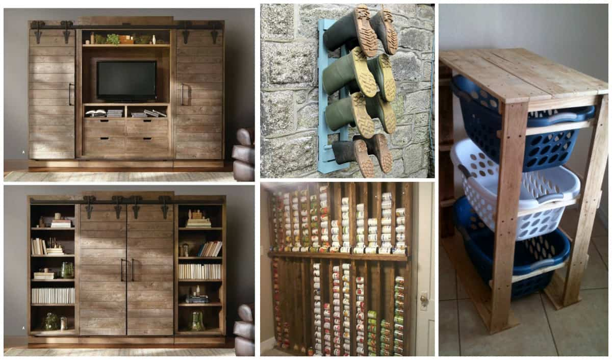 Creative diy pallet storage ideas diy cozy home Homemade craft storage ideas