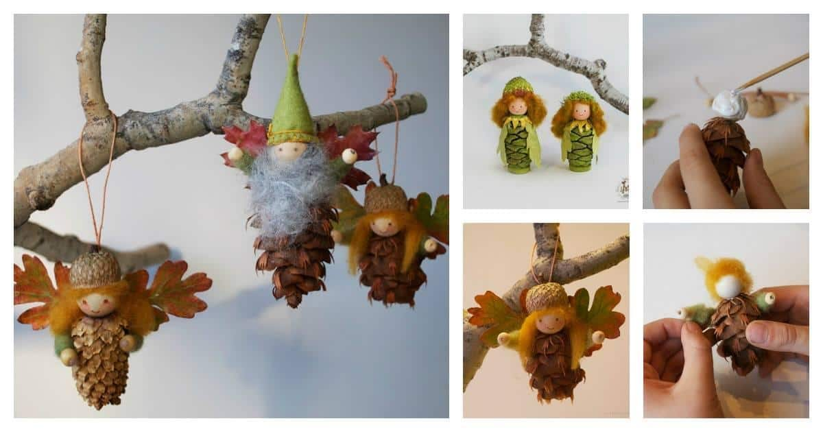 How To Make Pinecone Fairy Ornaments