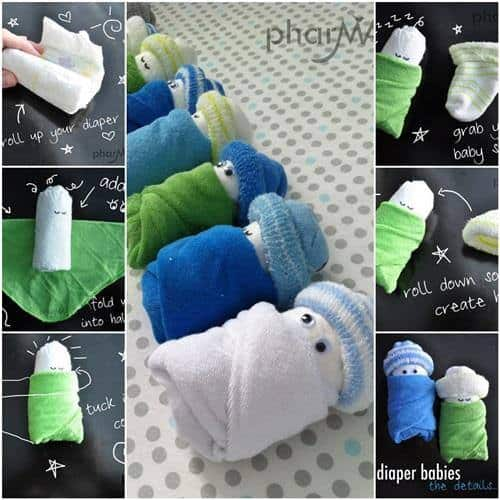 How To Make Adorable Diaper Babies For Your Next Baby Shower