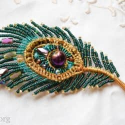 Peacock Feather Brooch