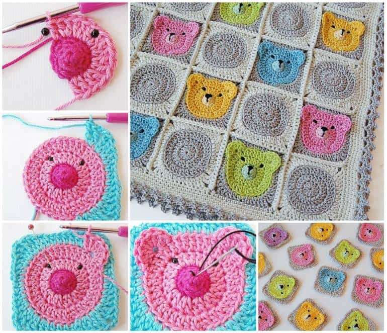 Teddy Bear Granny Squares Pattern