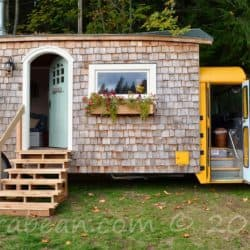 See Inside This Adorable Tiny School Bus Cottage