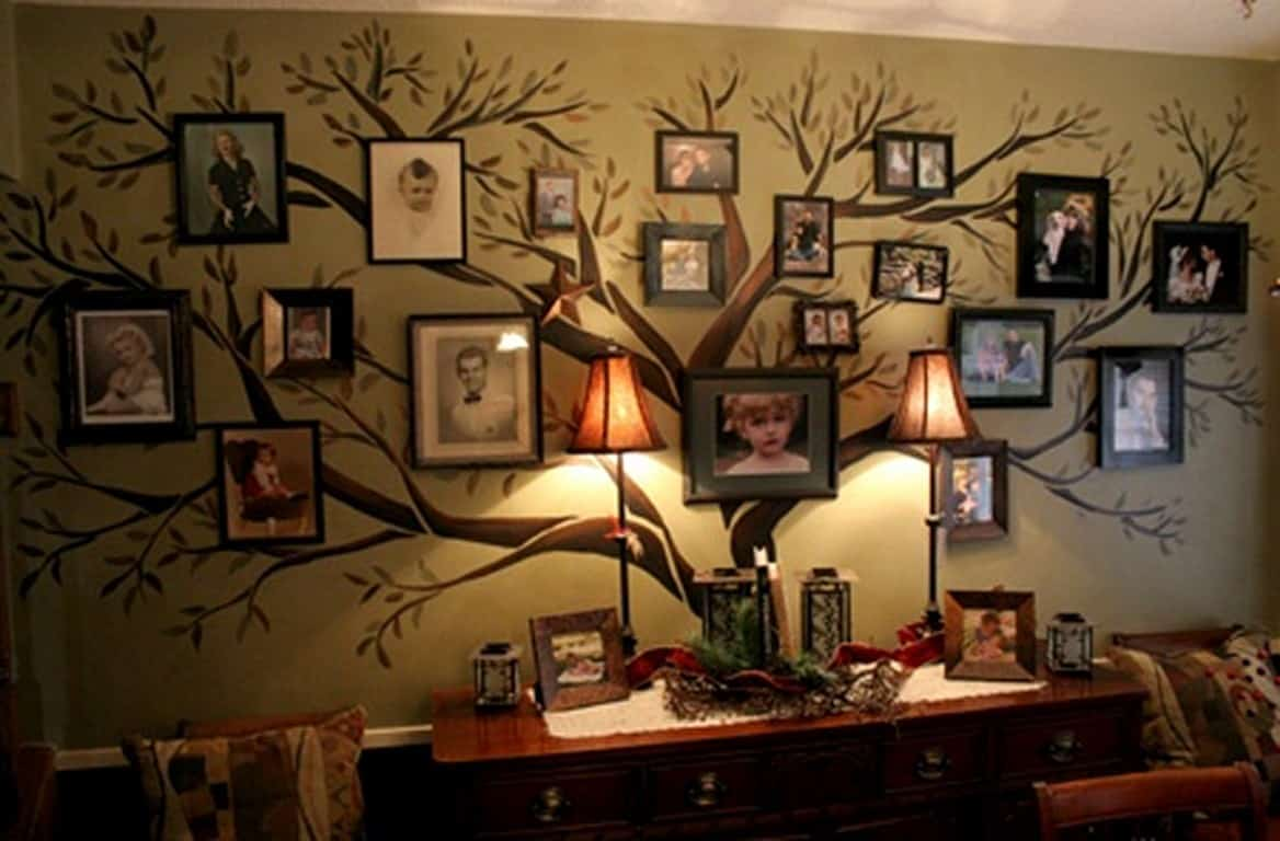 Family Tree Photo Wall Ideas