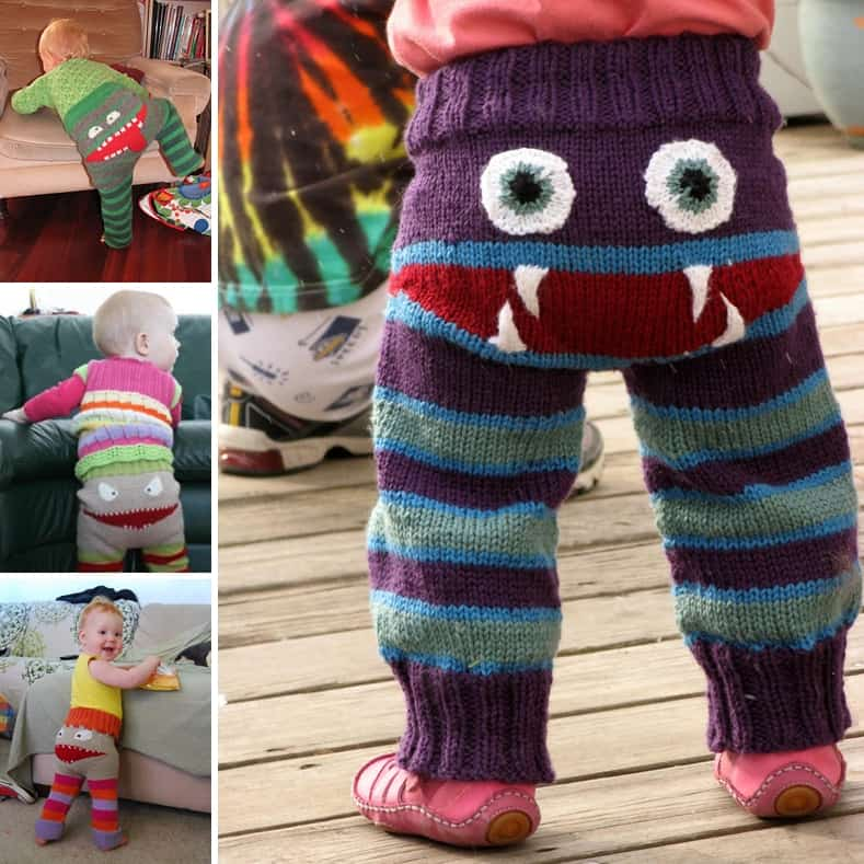Free Pattern For These Cute Knitted Monster Pants