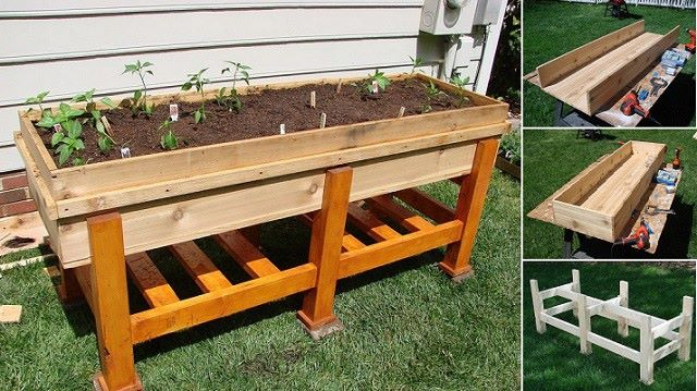 DIY Planter Box That Is Just The Right Height