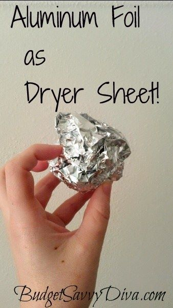 tinfoil as dryer sheet