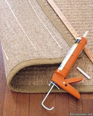 caulking to keep rugs from slipping