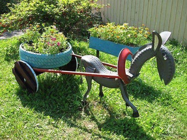 Garden Yard Art Ideas find this pin and more on yard art ideas garden Donkey Tire Art