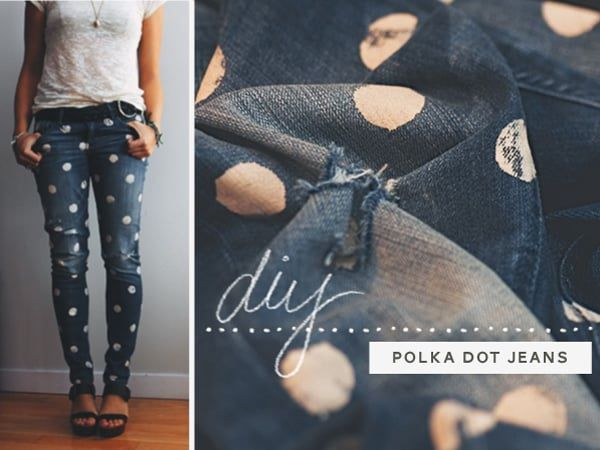 diy dotty jeans