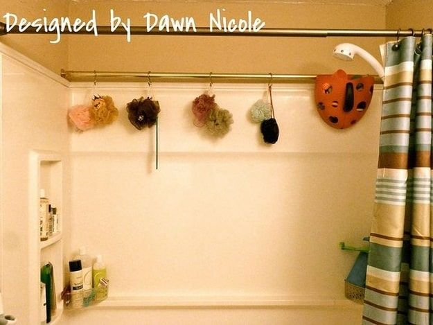 shower rod for storage