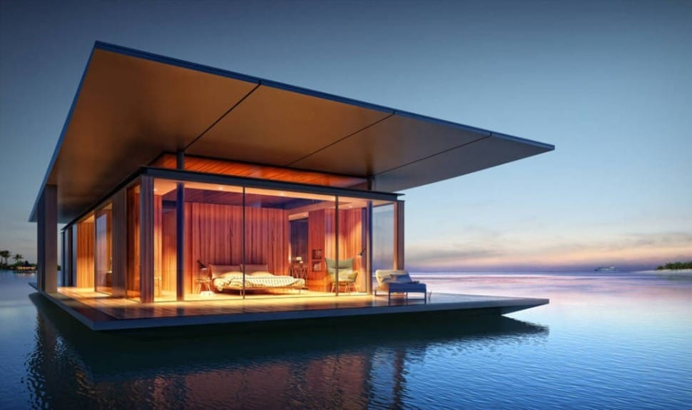 floating modern tiny home