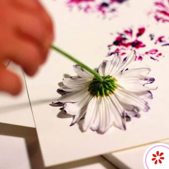 floral stamp painting