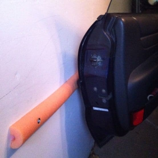 foam noodle protect car door